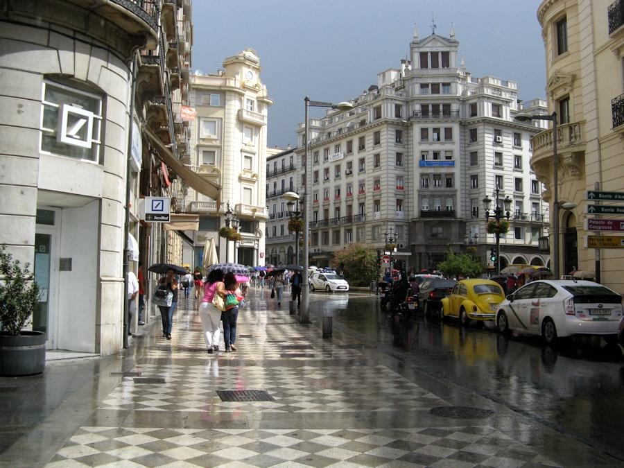 Tarde de lluvia en Granada