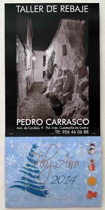 Almanaque del rebaje de Pedro Carrasco para 2014