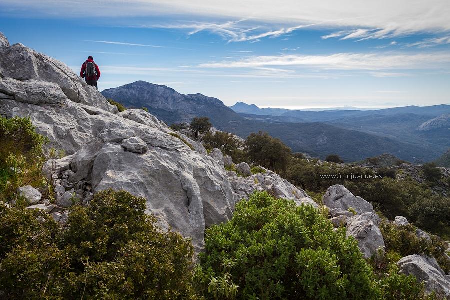 Sierra de los Pinos, Sierra Bermeja, Gibraltar y Marruecos, desde Sierra Baja.